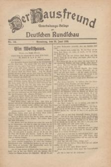 Der Hausfreund : Unterhaltungs-Beilage zur Deutschen Rundschau. 1930, Nr. 144 (26 Juni)