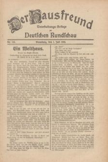 Der Hausfreund : Unterhaltungs-Beilage zur Deutschen Rundschau. 1930, Nr. 148 (1 Juli)