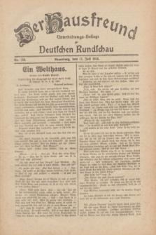 Der Hausfreund : Unterhaltungs-Beilage zur Deutschen Rundschau. 1930, Nr. 158 (12 Juli)