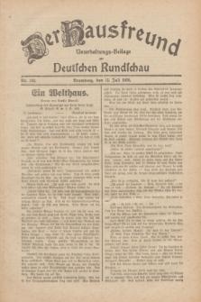 Der Hausfreund : Unterhaltungs-Beilage zur Deutschen Rundschau. 1930, Nr. 160 (15 Juli)