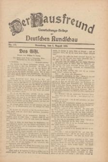 Der Hausfreund : Unterhaltungs-Beilage zur Deutschen Rundschau. 1930, Nr. 177 (3 August)