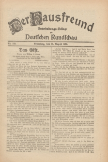 Der Hausfreund : Unterhaltungs-Beilage zur Deutschen Rundschau. 1930, Nr. 189 (19 August)
