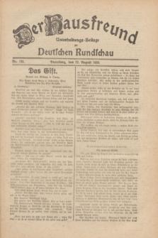 Der Hausfreund : Unterhaltungs-Beilage zur Deutschen Rundschau. 1930, Nr. 192 (22 August)