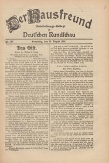 Der Hausfreund : Unterhaltungs-Beilage zur Deutschen Rundschau. 1930, Nr. 195 (26 August)