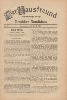 Der Hausfreund : Unterhaltungs-Beilage zur Deutschen Rundschau. 1930, Nr. 197 (28 August)