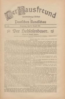 Der Hausfreund : Unterhaltungs-Beilage zur Deutschen Rundschau. 1930, Nr. 198 (29 August)