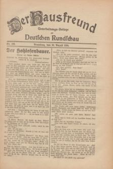 Der Hausfreund : Unterhaltungs-Beilage zur Deutschen Rundschau. 1930, Nr. 199 (30 August)