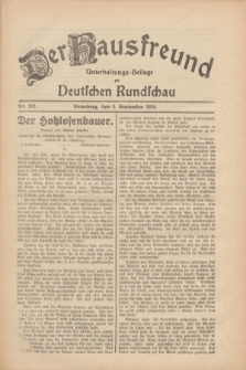 Der Hausfreund : Unterhaltungs-Beilage zur Deutschen Rundschau. 1930, Nr. 202 (3 September)