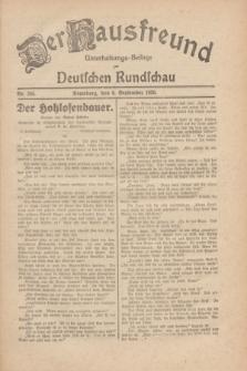 Der Hausfreund : Unterhaltungs-Beilage zur Deutschen Rundschau. 1930, Nr. 205 (6 September)