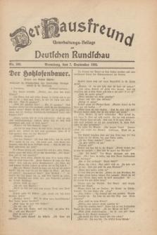 Der Hausfreund : Unterhaltungs-Beilage zur Deutschen Rundschau. 1930, Nr. 206 (7 September)