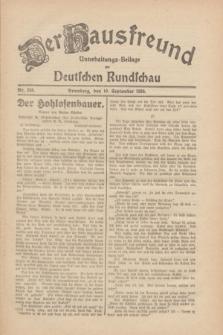 Der Hausfreund : Unterhaltungs-Beilage zur Deutschen Rundschau. 1930, Nr. 208 (10 September)