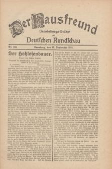 Der Hausfreund : Unterhaltungs-Beilage zur Deutschen Rundschau. 1930, Nr. 209 (11 September)