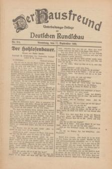 Der Hausfreund : Unterhaltungs-Beilage zur Deutschen Rundschau. 1930, Nr. 214 (17 September)