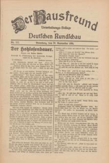 Der Hausfreund : Unterhaltungs-Beilage zur Deutschen Rundschau. 1930, Nr. 217 (20 September)