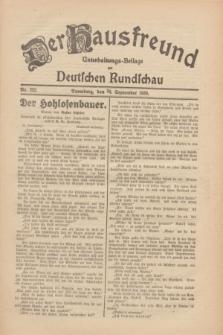 Der Hausfreund : Unterhaltungs-Beilage zur Deutschen Rundschau. 1930, Nr. 222 (26 September)