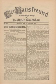 Der Hausfreund : Unterhaltungs-Beilage zur Deutschen Rundschau. 1930, Nr. 223 (27 September)