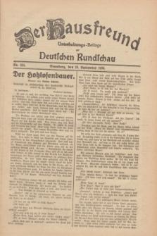 Der Hausfreund : Unterhaltungs-Beilage zur Deutschen Rundschau. 1930, Nr. 224 (28 September)