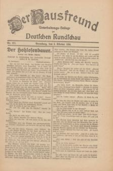 Der Hausfreund : Unterhaltungs-Beilage zur Deutschen Rundschau. 1930, Nr. 227 (2 Oktober)