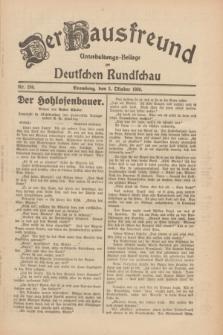 Der Hausfreund : Unterhaltungs-Beilage zur Deutschen Rundschau. 1930, Nr. 230 (5 Oktober)