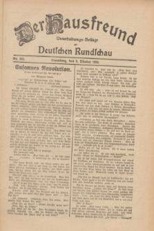 Der Hausfreund : Unterhaltungs-Beilage zur Deutschen Rundschau. 1930, Nr. 233 (9 Oktober)