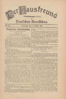 Der Hausfreund : Unterhaltungs-Beilage zur Deutschen Rundschau. 1930, Nr. 235 (11 Oktober)