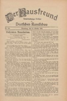 Der Hausfreund : Unterhaltungs-Beilage zur Deutschen Rundschau. 1930, Nr. 238 (15 Oktober)