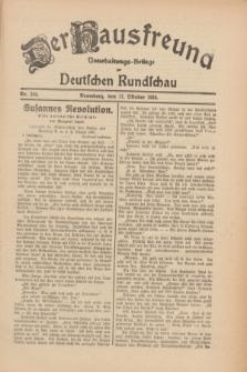 Der Hausfreund : Unterhaltungs-Beilage zur Deutschen Rundschau. 1930, Nr. 240 (17 Oktober)
