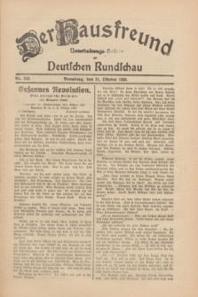 Der Hausfreund : Unterhaltungs-Beilage zur Deutschen Rundschau. 1930, Nr. 243 (21 Oktober)