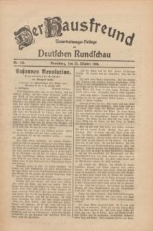 Der Hausfreund : Unterhaltungs-Beilage zur Deutschen Rundschau. 1930, Nr. 245 (23 Oktober)