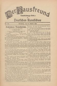 Der Hausfreund : Unterhaltungs-Beilage zur Deutschen Rundschau. 1930, Nr. 249 (28 Oktober)