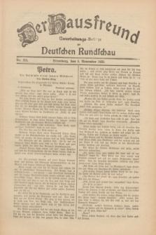 Der Hausfreund : Unterhaltungs-Beilage zur Deutschen Rundschau. 1930, Nr. 258 (8 November)