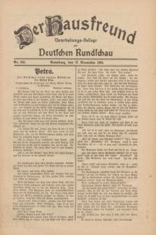 Der Hausfreund : Unterhaltungs-Beilage zur Deutschen Rundschau. 1930, Nr. 262 (13 November)