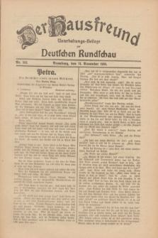 Der Hausfreund : Unterhaltungs-Beilage zur Deutschen Rundschau. 1930, Nr. 263 (14 November)