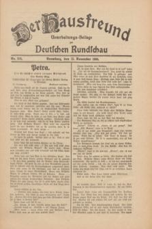 Der Hausfreund : Unterhaltungs-Beilage zur Deutschen Rundschau. 1930, Nr. 264 (15 November)
