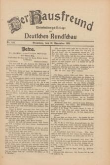 Der Hausfreund : Unterhaltungs-Beilage zur Deutschen Rundschau. 1930, Nr. 266 (18 November)