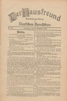 Der Hausfreund : Unterhaltungs-Beilage zur Deutschen Rundschau. 1930, Nr. 270 (22 November)