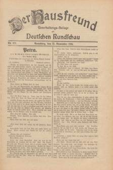 Der Hausfreund : Unterhaltungs-Beilage zur Deutschen Rundschau. 1930, Nr. 272 (25 November)