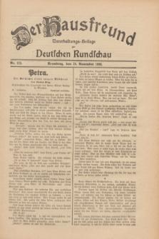 Der Hausfreund : Unterhaltungs-Beilage zur Deutschen Rundschau. 1930, Nr. 275 (28 November)