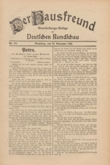 Der Hausfreund : Unterhaltungs-Beilage zur Deutschen Rundschau. 1930, Nr. 276 (29 November)