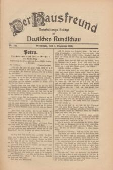Der Hausfreund : Unterhaltungs-Beilage zur Deutschen Rundschau. 1930, Nr. 280 (4 Dezember)