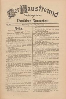 Der Hausfreund : Unterhaltungs-Beilage zur Deutschen Rundschau. 1930, Nr. 281 (5 Dezember)