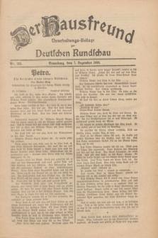 Der Hausfreund : Unterhaltungs-Beilage zur Deutschen Rundschau. 1930, Nr. 283 (7 Dezember)
