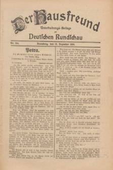 Der Hausfreund : Unterhaltungs-Beilage zur Deutschen Rundschau. 1930, Nr. 284 (10 Dezember)
