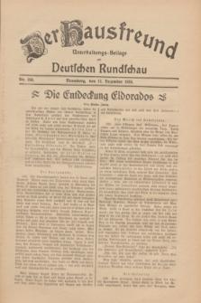 Der Hausfreund : Unterhaltungs-Beilage zur Deutschen Rundschau. 1930, Nr. 286 (12 Dezember)