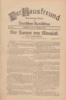 Der Hausfreund : Unterhaltungs-Beilage zur Deutschen Rundschau. 1930, Nr. 288 (14 Dezember)