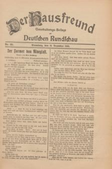 Der Hausfreund : Unterhaltungs-Beilage zur Deutschen Rundschau. 1930, Nr. 291 (18 Dezember)