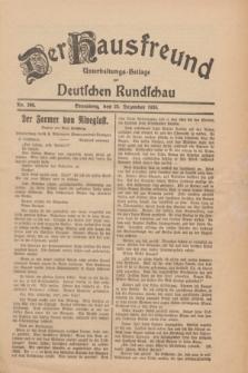 Der Hausfreund : Unterhaltungs-Beilage zur Deutschen Rundschau. 1930, Nr. 296 (24 Dezember)