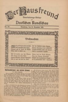 Der Hausfreund : Unterhaltungs-Beilage zur Deutschen Rundschau. 1930, Nr. 297 (25 Dezember)
