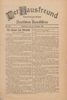 Der Hausfreund : Unterhaltungs-Beilage zur Deutschen Rundschau. 1930, Nr. 299 (29 Dezember)