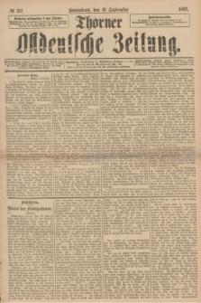 Thorner Ostdeutsche Zeitung. 1892, № 212 (10 September)